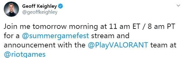 拳头携《Valorant》亮相今夜夏日游戏节 或公布发售日 (1)