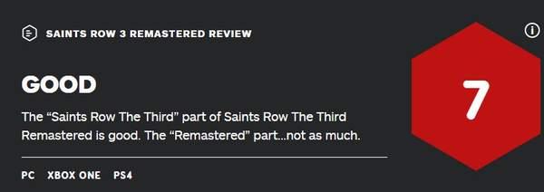 《黑道圣徒3:重制版》IGN 7分 重制的内容差强人意 (2)