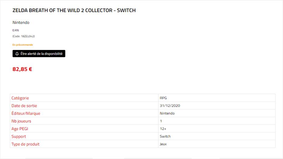 外商泄露《塞尔达:旷野之息》续篇收藏版今年发售 (1)